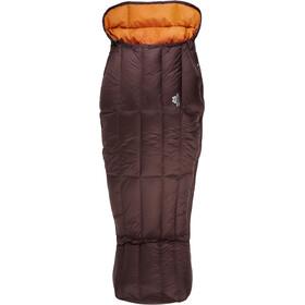 Mountain Equipment Spellbinder Sleeping Bag Damen dark chocolate/blaze